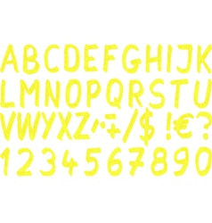 yellow marker vector image
