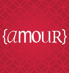 Amour word vector