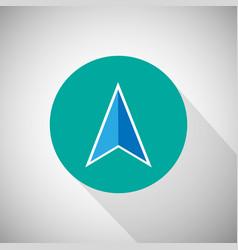 Arrow navigation icon vector