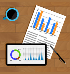 business statistics on table vector image vector image