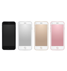 colored common mobile templates with empty vector image vector image