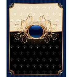 gold invitation frame or packing for elegant desig vector image