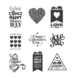 Happy Valentine Day lettering vector image vector image