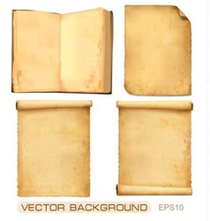 set of old paper sheets vector image