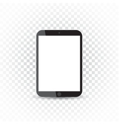 Tablet with white screen flat icon computer on vector