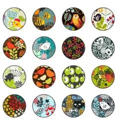 Big set of balls with print patterns vector image