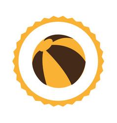 circular frame with beach ball vector image