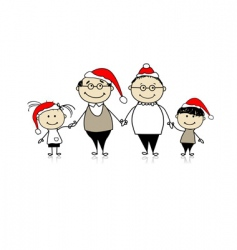merry Christmas happy family together vector image vector image