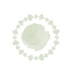 ornamental watercolor logo design vector image