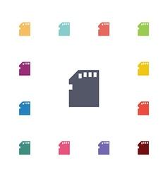memory card flat icons set vector image