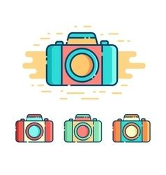 Photo camera logo vector image vector image