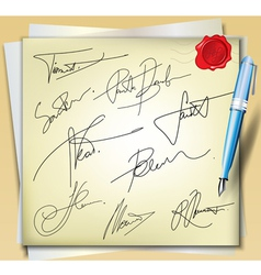 Signatures vector image