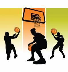 star basketball vector image