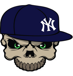 Yankee skull vector image