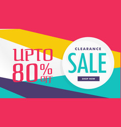 Amazing discount and sale voucher banner template vector