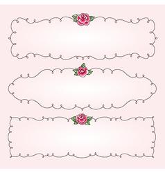 frames flowers horizontal vector image