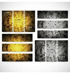 Modern banners abstract banner design business vector image