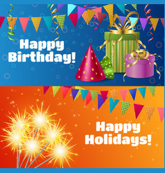 realistic festive accessories banners vector image