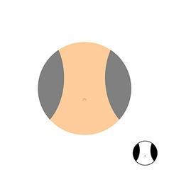 Womens narrow waist Logo for diet vector image