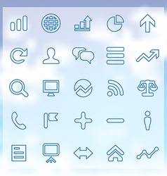 25 analytics research icons set vector