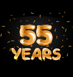 55 years golden anniversary logo celebration vector