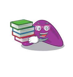 A diligent student in adrenal mascot design vector