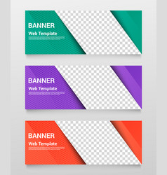Abstract horizontal banners template vector