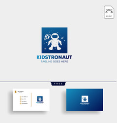 Astronaut kids children dreams logo template vector