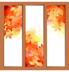 Autumn Watercolor Headers vector