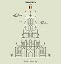 Basilica of our lady in tongeren belgium vector