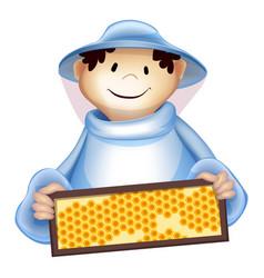 beekeeper man icon cartoon style vector image