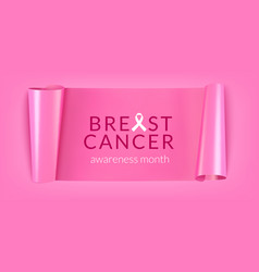 breast cancer banner vector image
