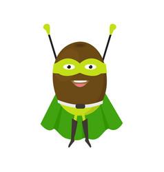 cartoon superhero character kiwi flat design vector image