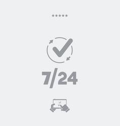 check 724 services - web icon vector image