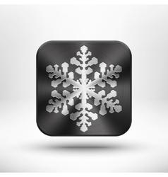 Christmas metal snowflake icon vector image