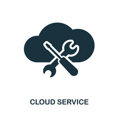 cloud service icon monochrome style design from vector image