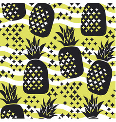 Concept pineapple silhouette seamless pattern vector