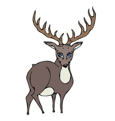 cute deer reindeer caribou cartoon caracter vector image