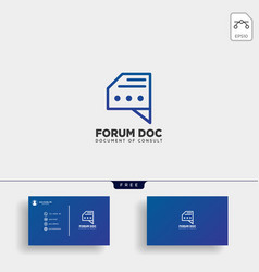 document file data message logo template vector image