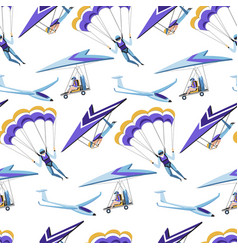 extreme sports and hobbies hang gliding vector image