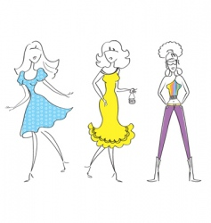 Fashion girl17 vector