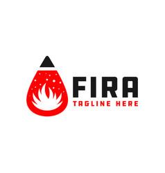 fire extinguishing fluid ball logo vector image