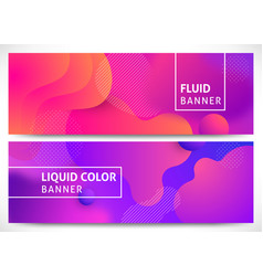Fluid shapes horizontal banners vector