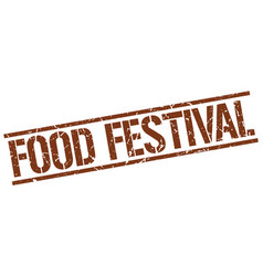 food festival stamp vector image