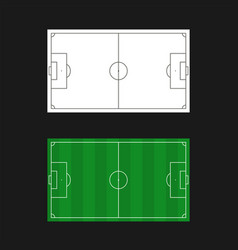 football field templates vector image