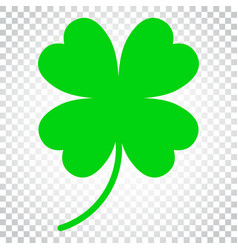 Four leaf clover icon clover silhouette simple vector