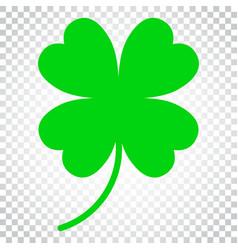 Four leaf clover icon clover silhouette simple vector