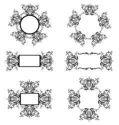 Frames with black pattern vector image