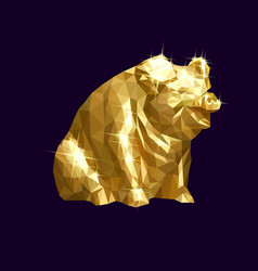 Golden pig low vector