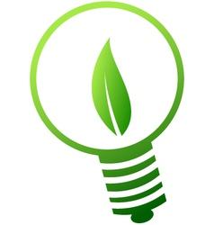 green lamp icon vector image